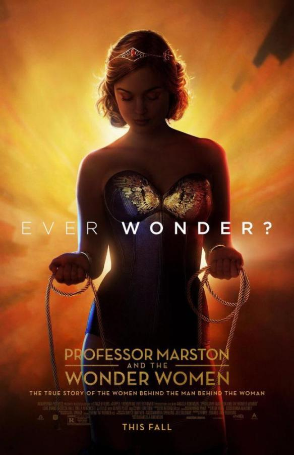 """""""Professor Marston and the Wonder Woman""""  follows the life of William Moulton Marston (Luke Evans) and his wife Elizabeth Holloway (Rebecca Hall). The delightfully crass movie covers the origin of Wonder Woman by the Marston's."""