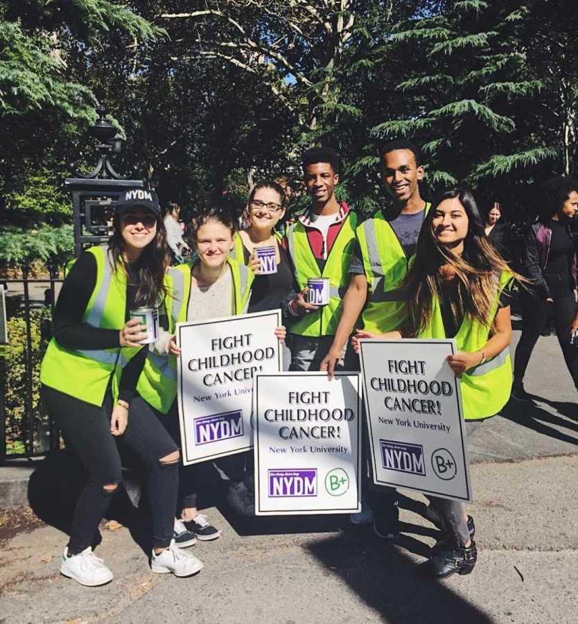 NYU sorority Alpha Sigma Tau is increasing fundraising efforts to fight childhood cancer with Be Positive Foundation in Washington Square Park on October 5.