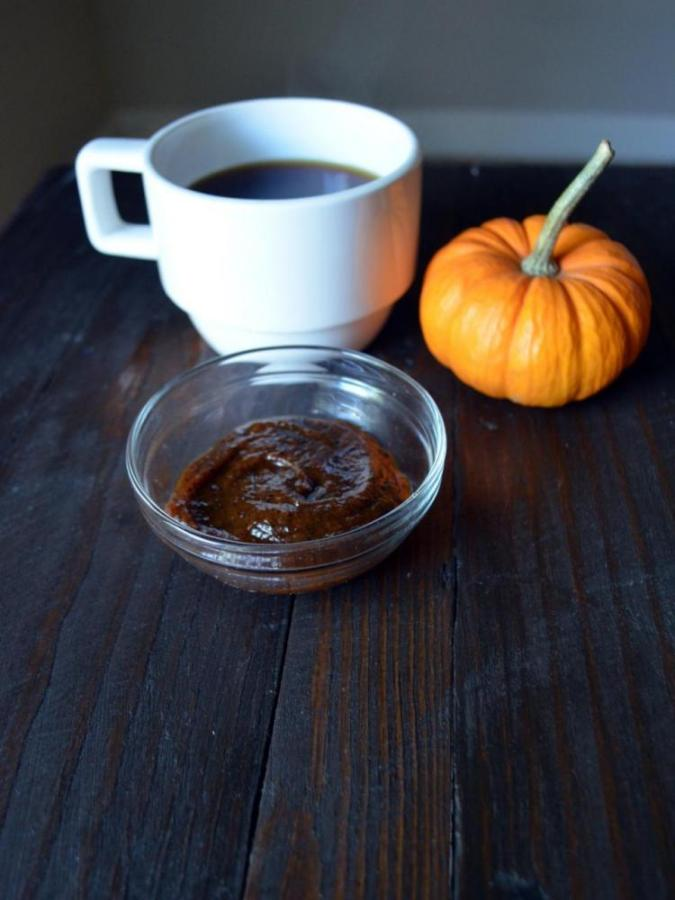 The combination of coffee and pumpkin is a great exfoliant for your skin and fall is the perfect time to treat yourself with an invigorating facial.