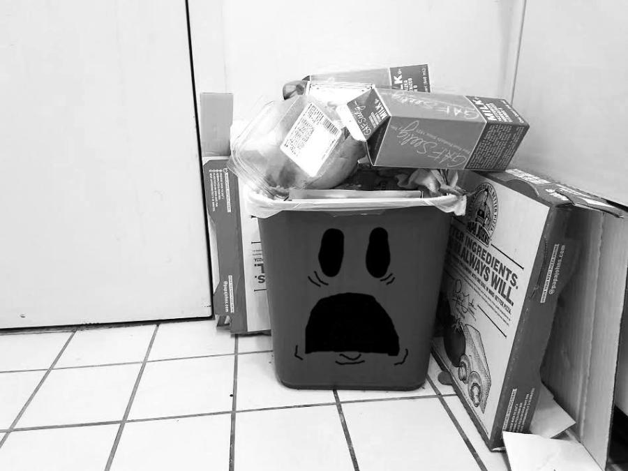 Traumatized trash can cant take it anymore