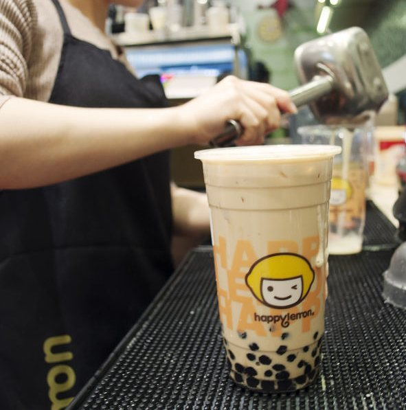 Happy Lemon, in Queens, sells traditional bubble tea as well as Cheese Tea.