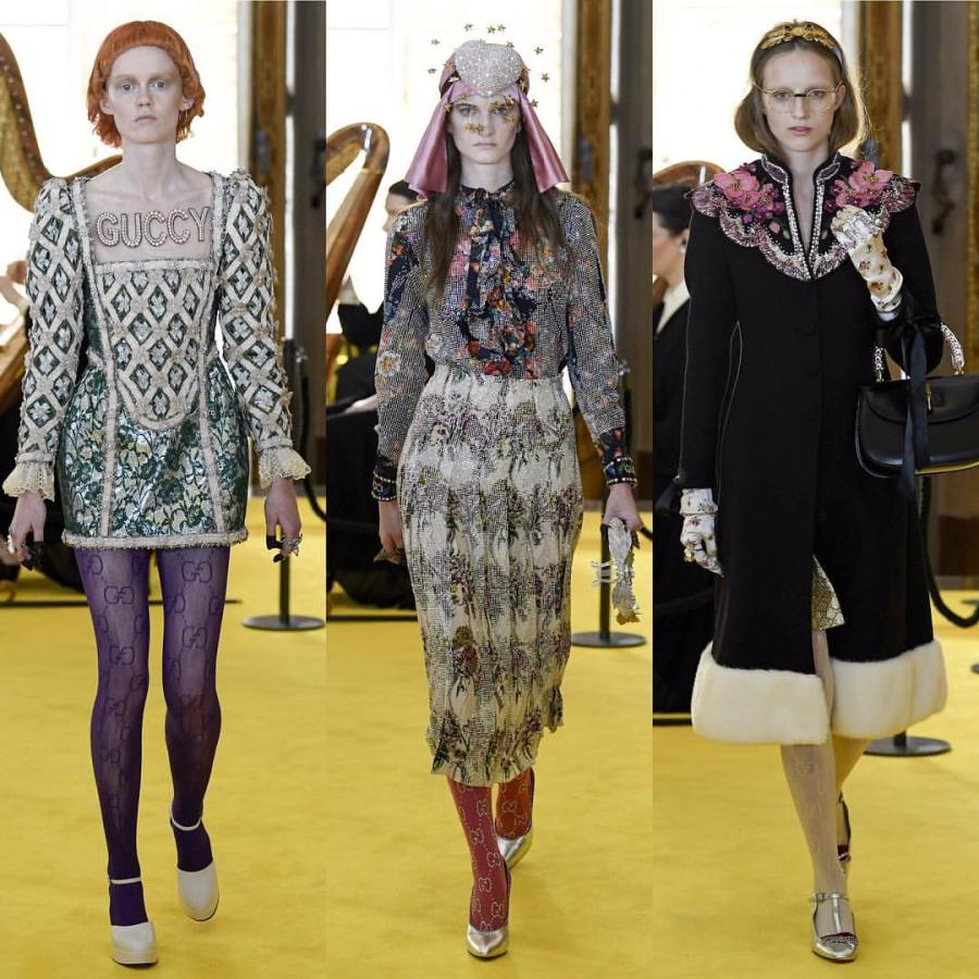 Gucci+Resort+2018+interjected+winter+coats+and+fur+right+next+to+flowy+gowns.