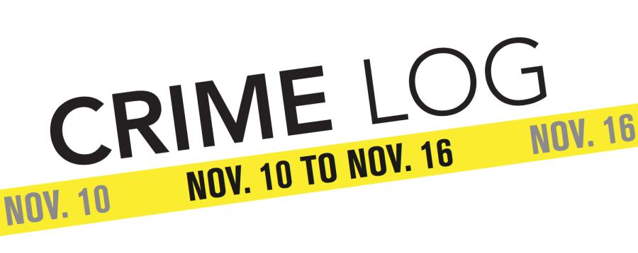 Crime Log: Nov. 10 to Nov. 16