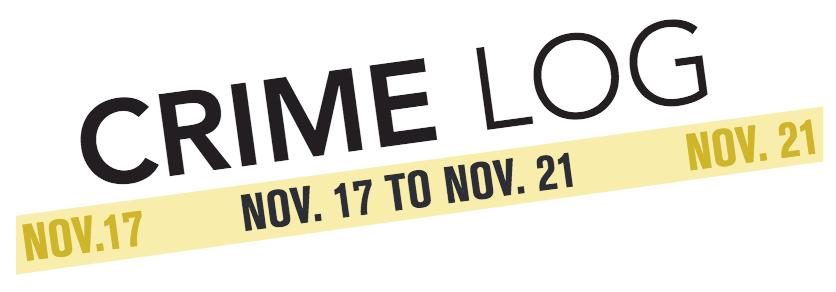 Crime+Log%3A+Nov.+17+to+Nov.+21