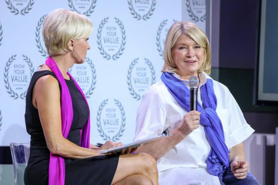 Martha Stewart joined the panel as a keynote speaker on Know Your Value Conference on Oct. 30 in New York City.