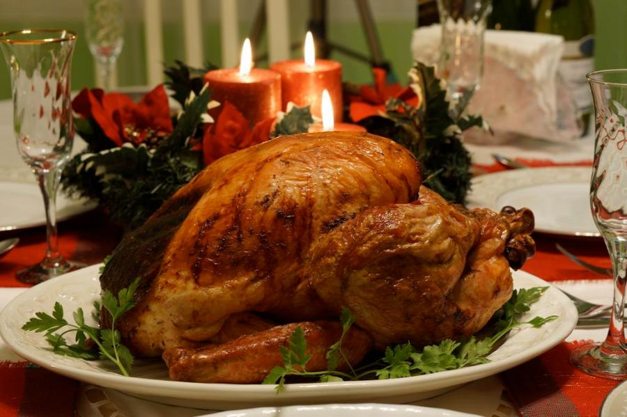 Turkey is a traditional Thanksgiving meal in America.