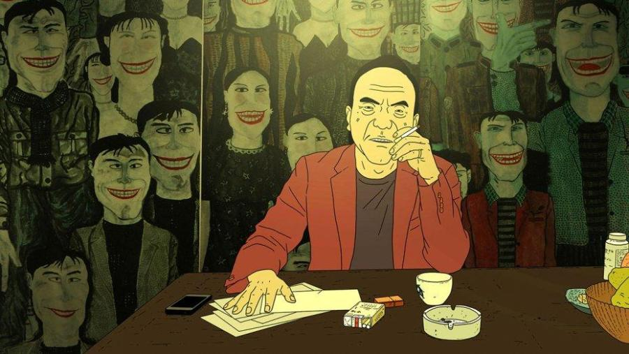 """""""Have a Nice Day"""" is a new animated film by Liu Jian that focuses on the life of a local gang driver Xiao Zhang, voiced by Zhu Changlong. The film is now playing at the Angelika Film Center."""