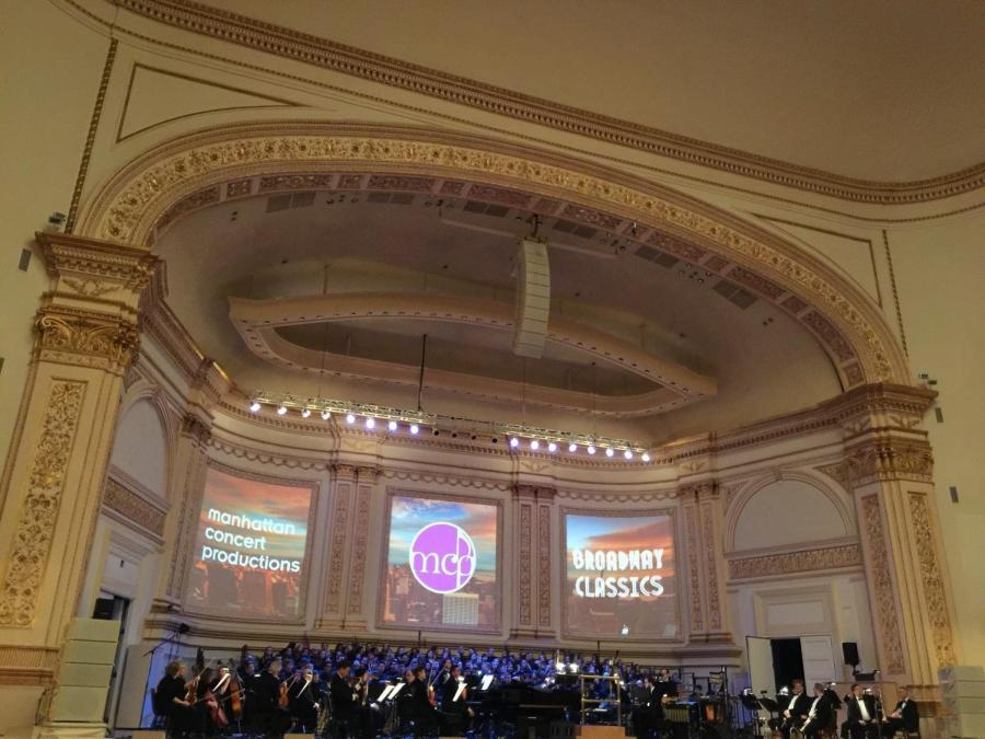Orchestra at MCP's Broadway Classics at Carnegie Hall on Feb. 20.