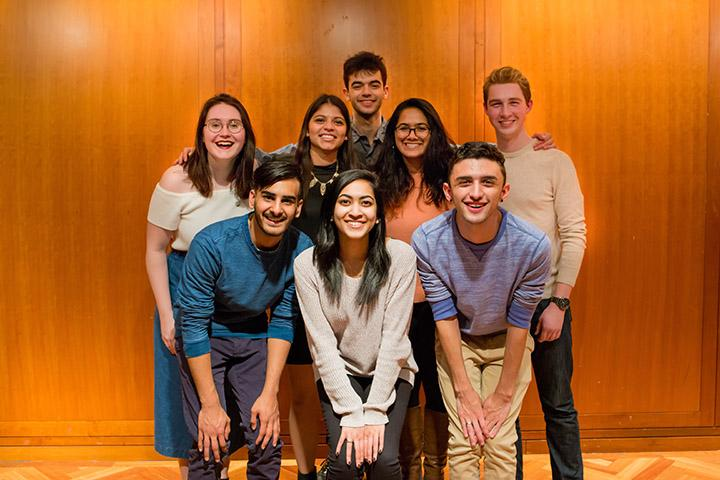 Front row from left: Shawn Kshatriya, Shriya Khonde, Kyle Haynes; Middle row from left: Tayler Everts, Antonella Cotilletta, Shraddah Jajal, Duncan Lemieux; Back row: Tom Fogle