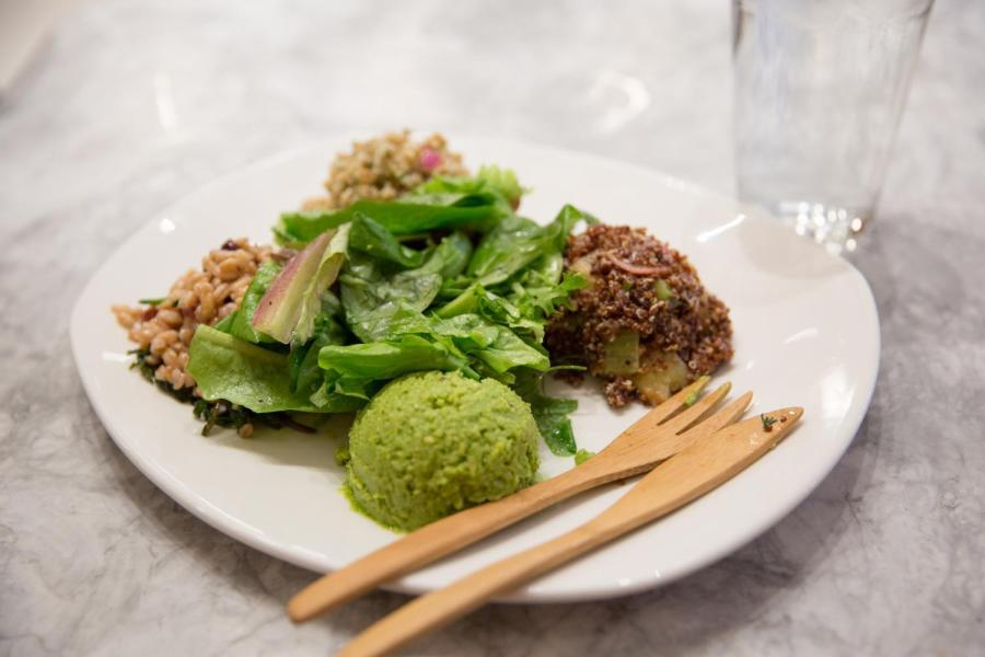 """The """"Happy Vegan"""" at the newly opened Tender Greens on Union Square."""