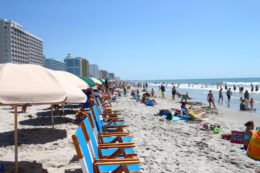 Myrtle Beach, a popular and affordable spring break destination for NYU students.