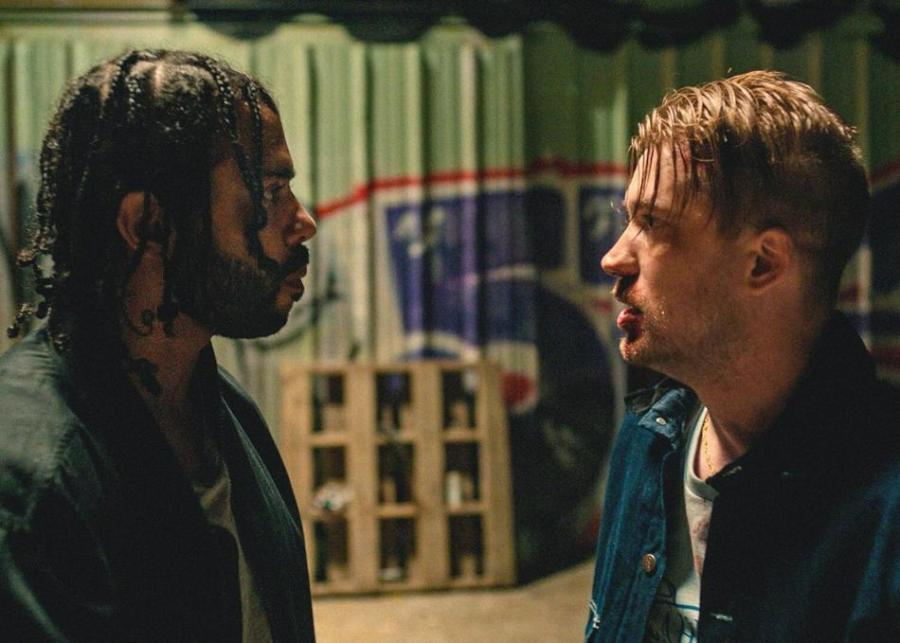 """A scene from """"Blindspotting,"""" starring Daveed Diggs as Collin and Rafael Casal as Miles."""