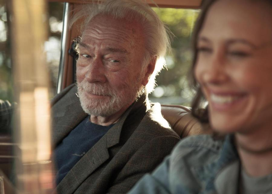 """Christopher Plummer as Jack and Vera Farmiga as Laura in a scene from """"Boundaries,"""" directed by Shana Feste."""