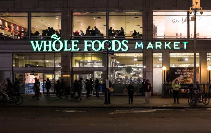 Whole+Foods+Market+on+Union+Square+is+a+traditional+grocery+store+that+offers+the+option+to+shop+for+groceries+online+through+Amazon+Prime+Now.