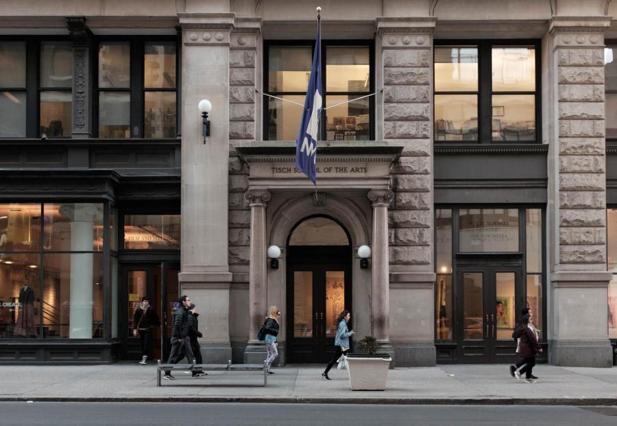 Tisch School of the Arts building on Broadway.