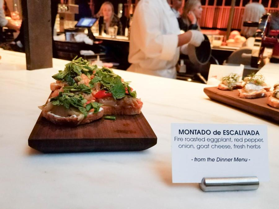 The Montado de Escalivada was a flavorful bite perfect to share on a plate with friends.