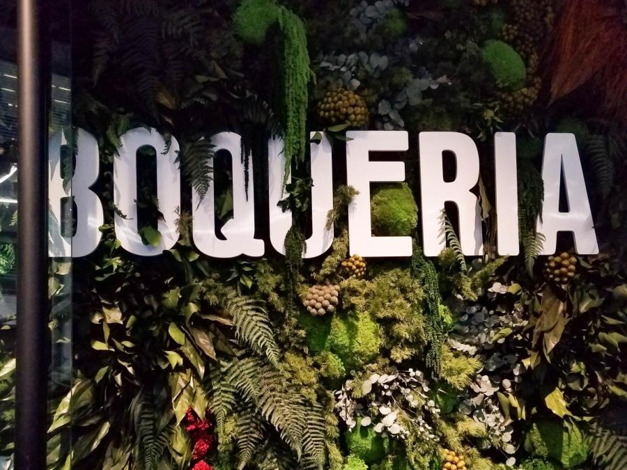 Boqueria's restaurant signage.