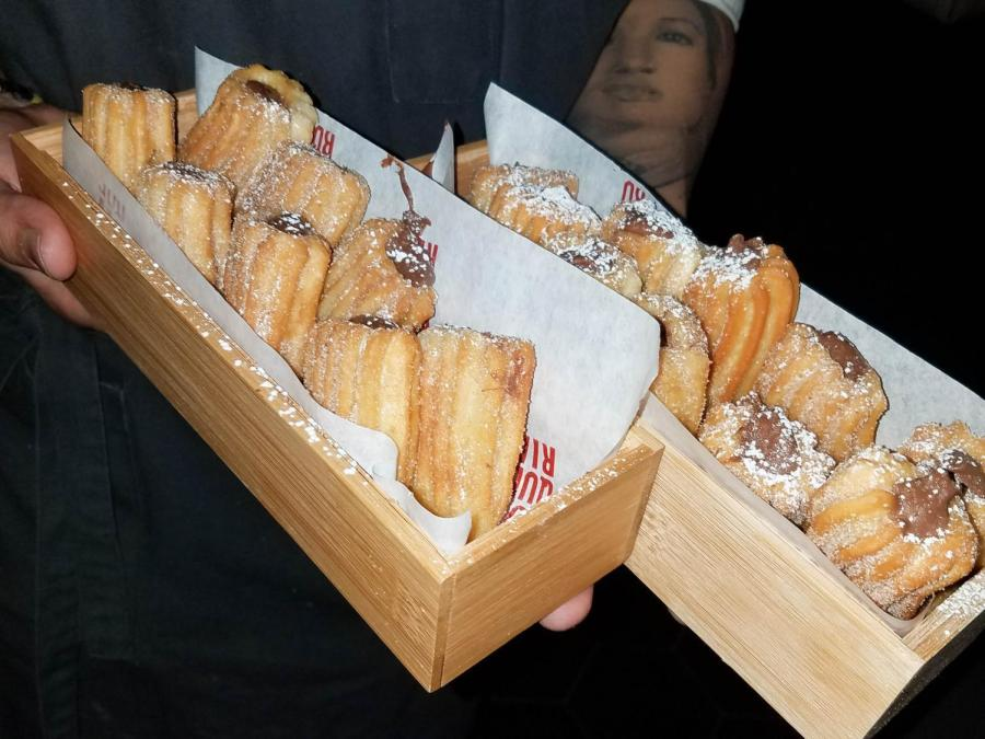 The highlight of the tasting: Boqueria's Nutella stuffed churros.