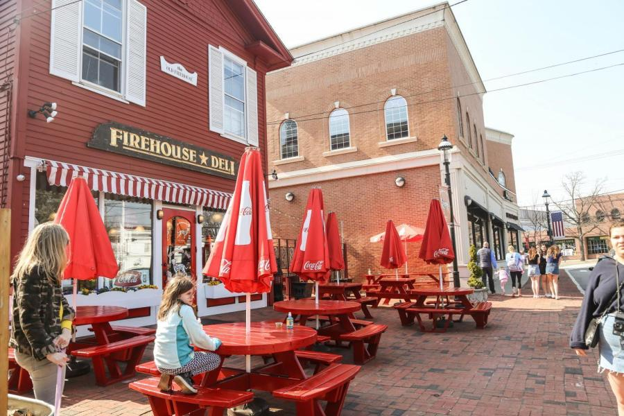 Firehouse Deli, a redesigned firehouse, is known for its sandwiches and sweet potato fries.