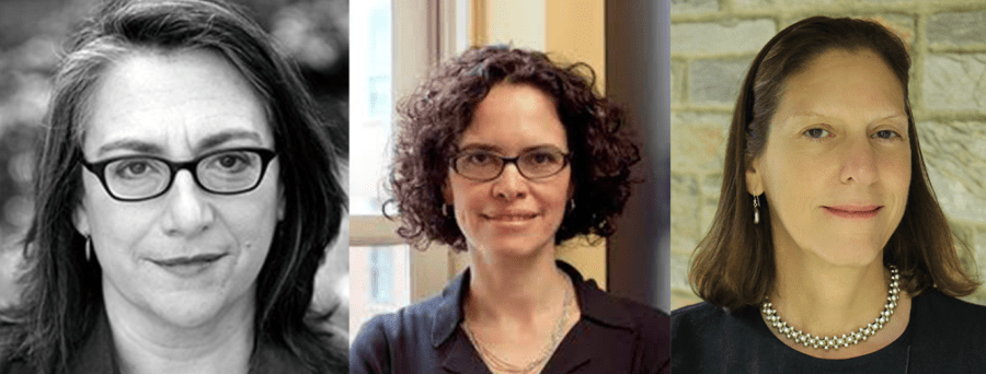 (from left to right) Carol Dysinger, Ada Ferrer,  Martha Hodes, the 2018 NYU faculty recipients of the Guggenheim Fellowship.