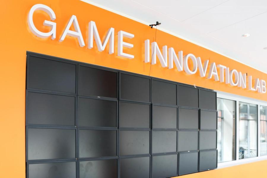 The exterior of the Game Innovation Lab.