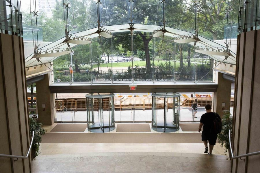 The Courtesy Meals Program can be accessed through various campus buildings, including the Kimmel Center. (Photo by Katie Peurrung)