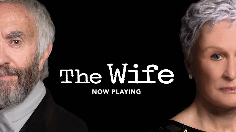 """Movie poster from """"The Wife."""""""
