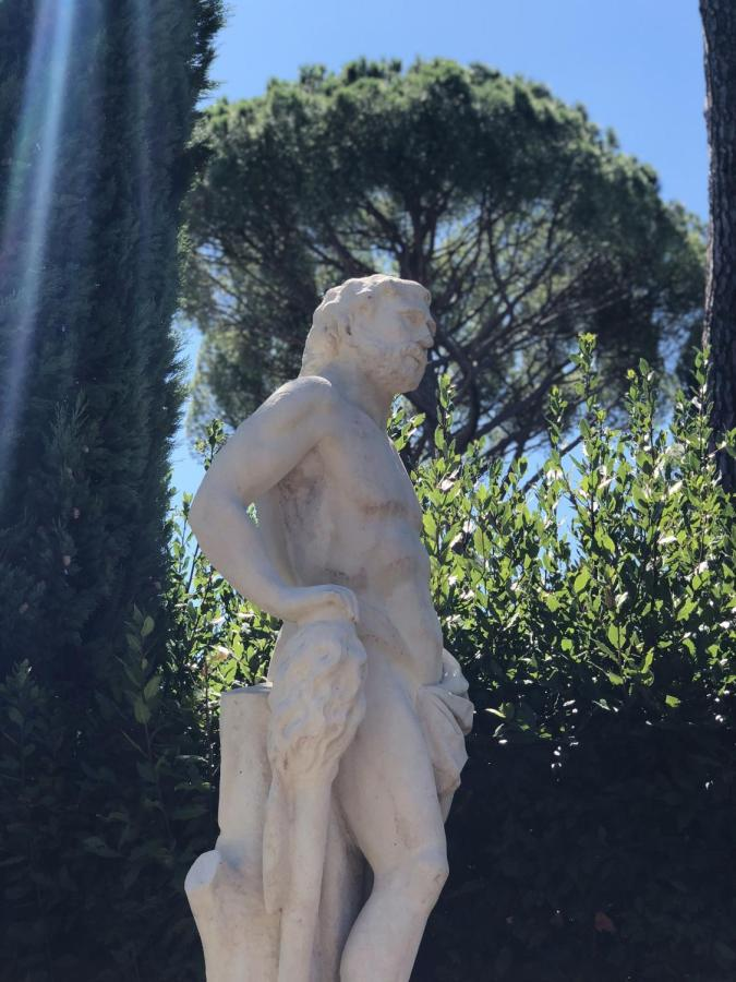A statue on NYU Florence campus.