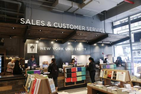 The inside of the NYU Bookstore. (Photo by Julia McNeill)