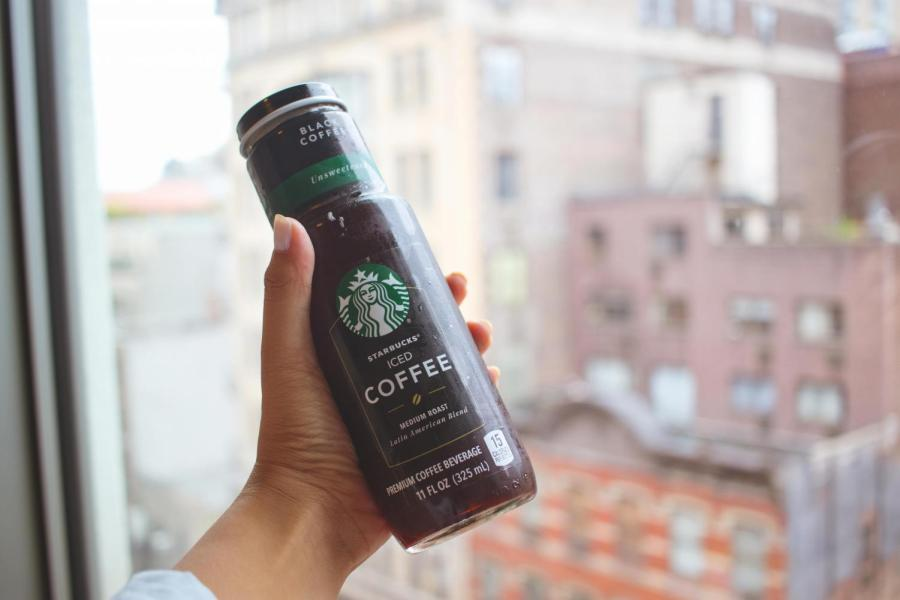 Some students enjoy the convenience of bottled coffee.