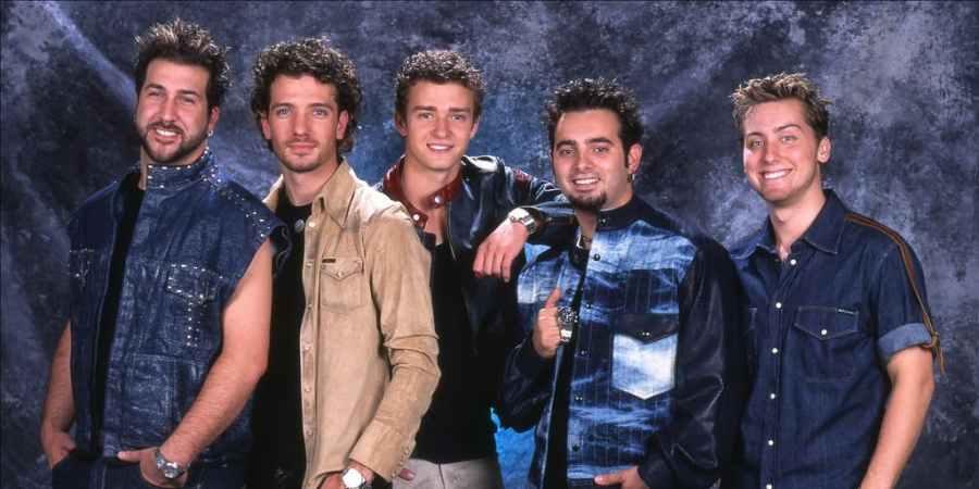 Members of boy group *NSYNC.