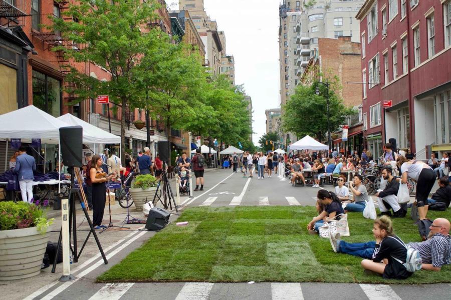 A summer street fair Greenwich Village.