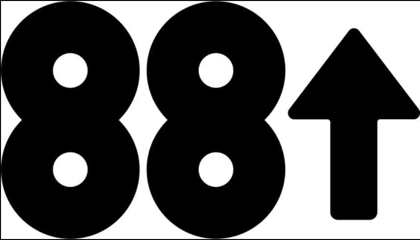 Logo for Asian media company 88 Rising. (Wikimedia)