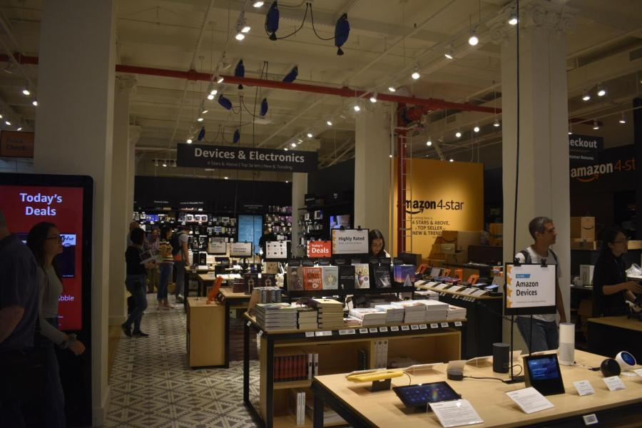 A new Amazon retail store opened in SoHo.