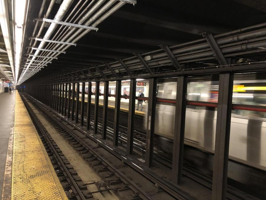 A shot of the tracks after service was restored to the L train. (Photo by Sage Lally)