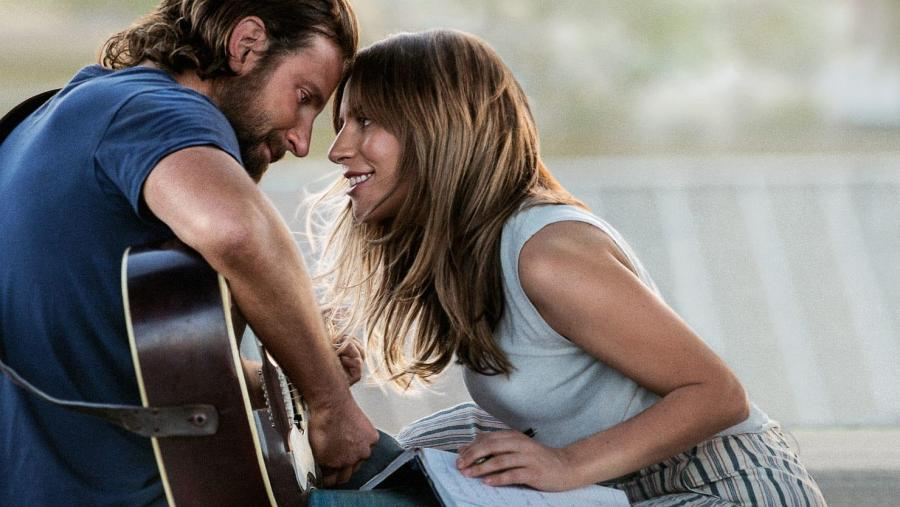 Bradley Cooper and Lady Gaga on the A Star Is Born album cover. (Courtesy of Warner Bros.)