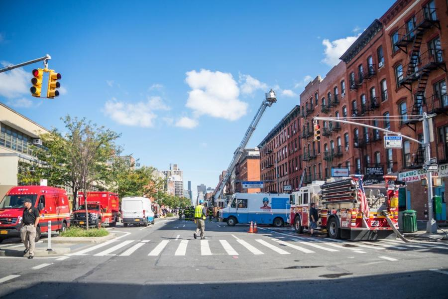 As of late morning on Wednesday, Fire Department and Con Edison personnel remained on the scene.