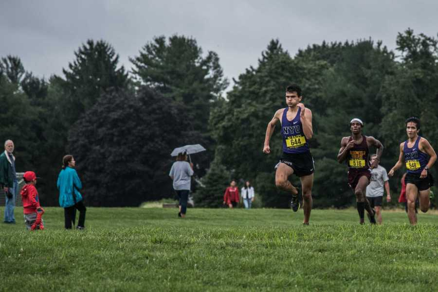 CAS sophomore Oliver Jacob was NYU's top finisher at the Metropolitan Championships on Oct. 12 at Van Cortlandt Park. (Photo by Sam Klein)