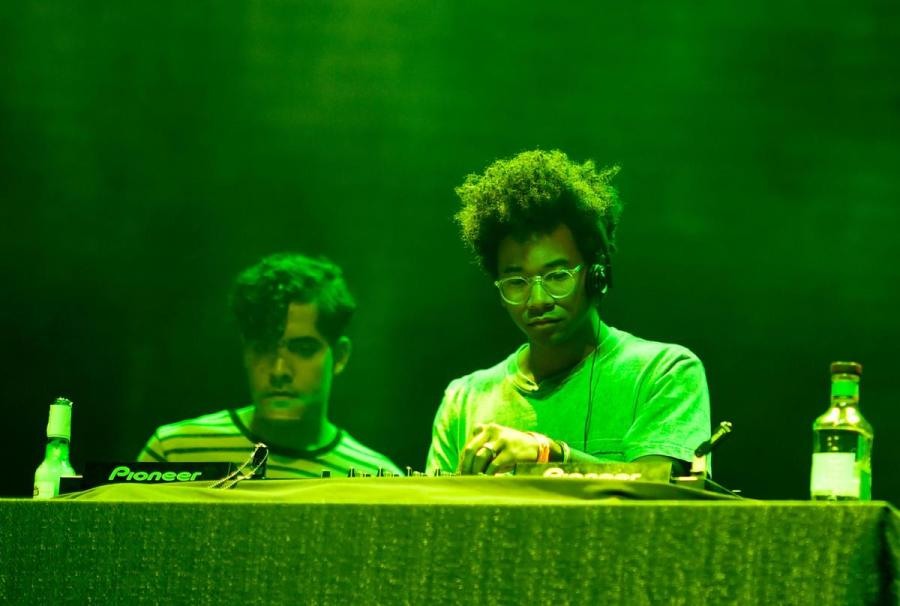 A musician from the Toro y Moi performance. (Courtesy of the New Yorker)