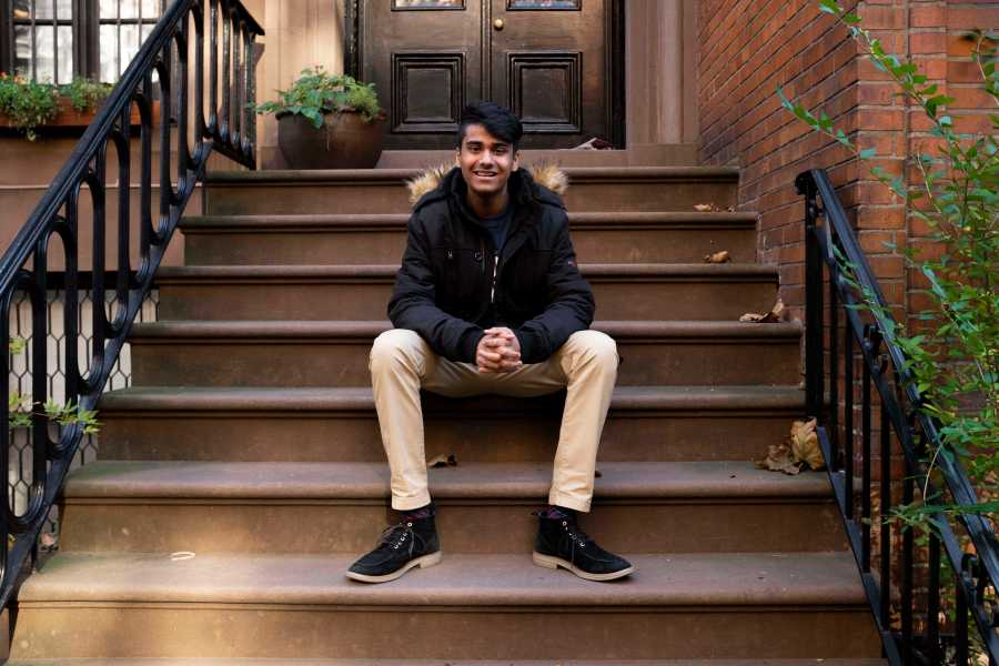Shiv Soin, a first-year CAS student who works with the NY State Democratic Party.