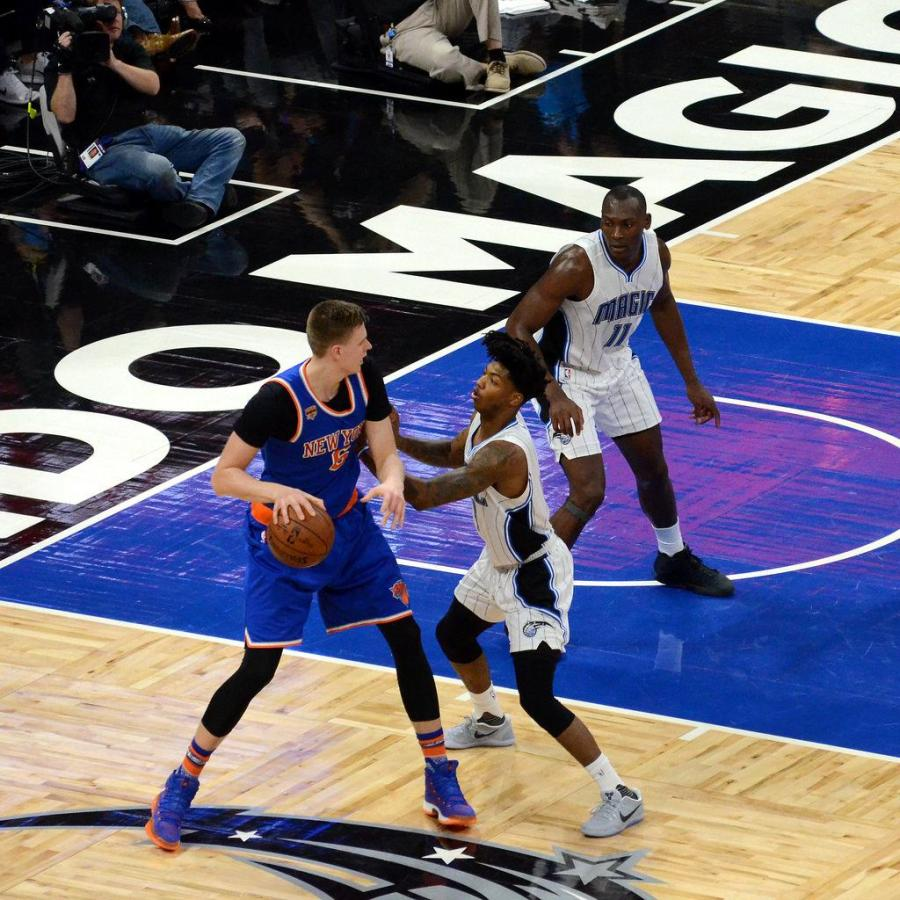 Former Knicks forward Kristaps Porzingis was traded to the Dallas Mavericks following a tense meeting with the organization on Thursday. (via Flickr)
