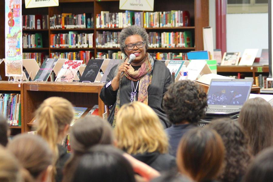 Acclaimed poet Claudia Rankine, who will be speaking with Layli Long Soldier at the New School on Friday. (via facebook.com)