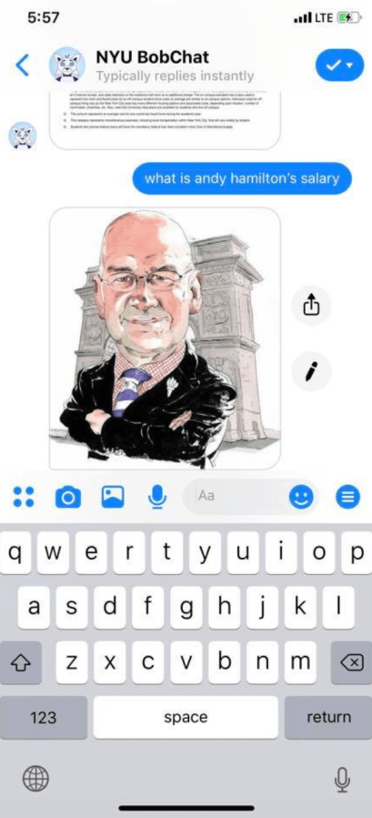 A+reply+from+the+NYU+BobChat+system.+%28Via+facebook.com%29