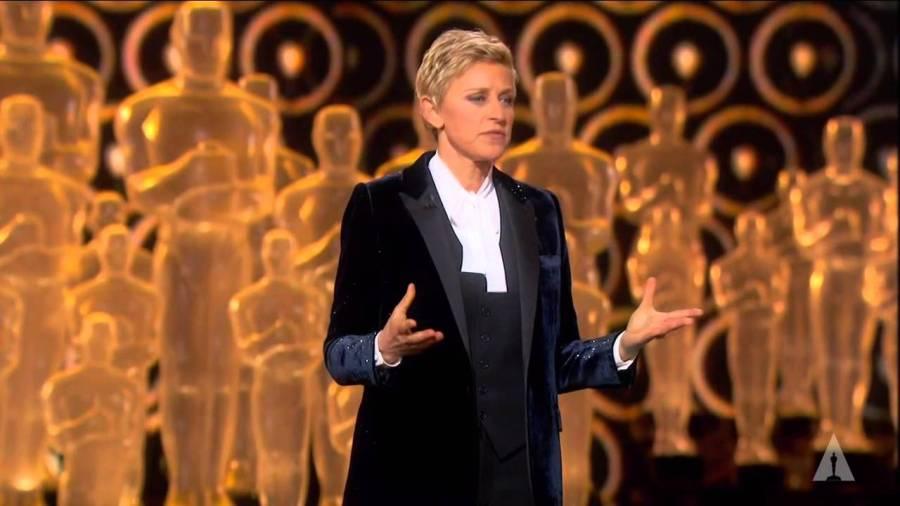 Ellen DeGeneres hosted the 86th oscars. (via Youtube)