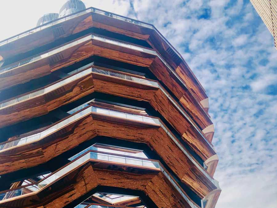 The Vessel, a 16-floor structure located at 20 Hudson Yards, is the new landmark built as part of the Hudson Yards Redevelopment Project. (Staff Photo by Jorene He)