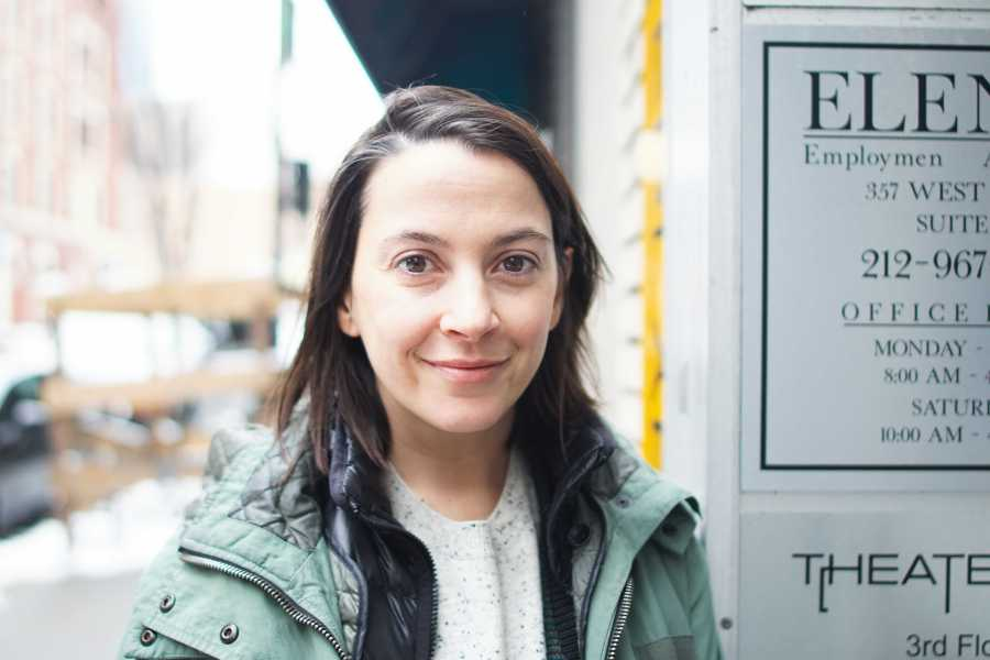 Sofia Alvarez, a playwright, screenwriter and professor in Tisch's Department of Dramatic Writing. She co-founded the Blockchain Theater Project, a theater company that seeks to dismantle institutional barriers in theater. (Photo by Min Ji Kim)