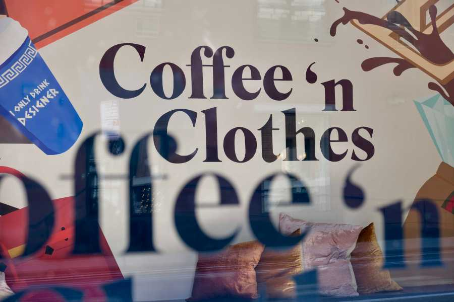 Located at 11 Bond St., Coffee 'n Clothes is a fashion-inspired cafe started as a trending hashtag that grew into its own brand, part of new trend of blending offline and online experiences. (Staff Photo by Jorene He)