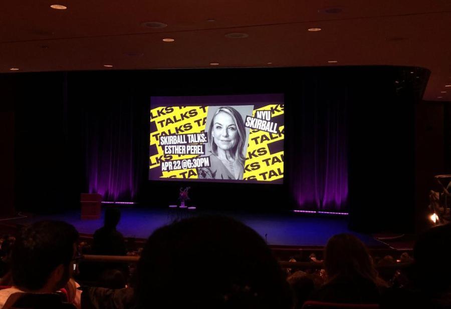 Esther Perel spoke at NYU Skirball today, April 22. (Staff Photo by Mansee Khurana)