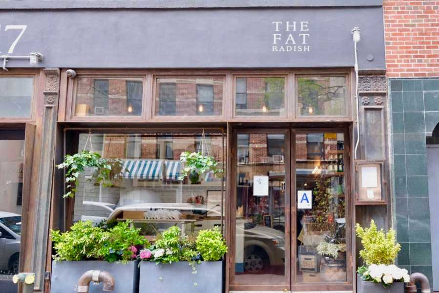 The Fat Radish is a British inspired farm-to-table trendy eatery located in the Lower East Side. (Staff Photo by Jorene He)