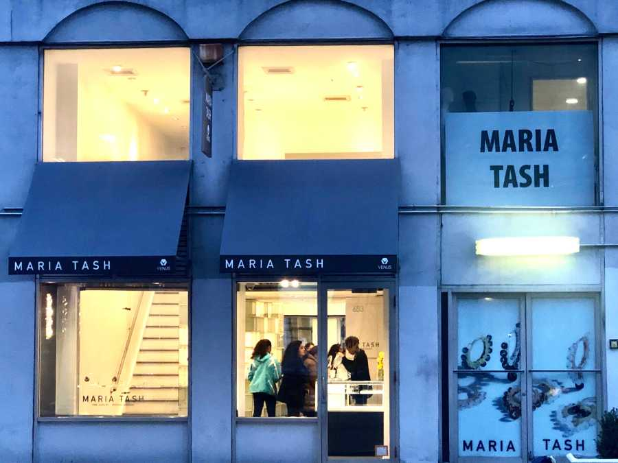 Maria Tash is a body piercing shop located on Broadway. (Staff Photo by Jorene He)